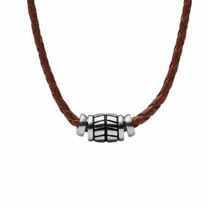 Fossil-Collier-pour-Homme-Vintage-Cuir-Casual-JF02687040