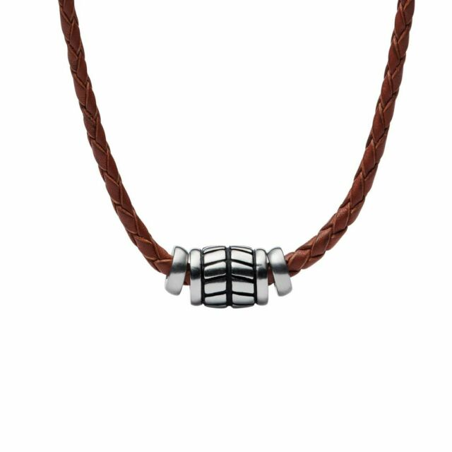 Fossil Collier pour Homme Vintage Cuir Casual JF02687040