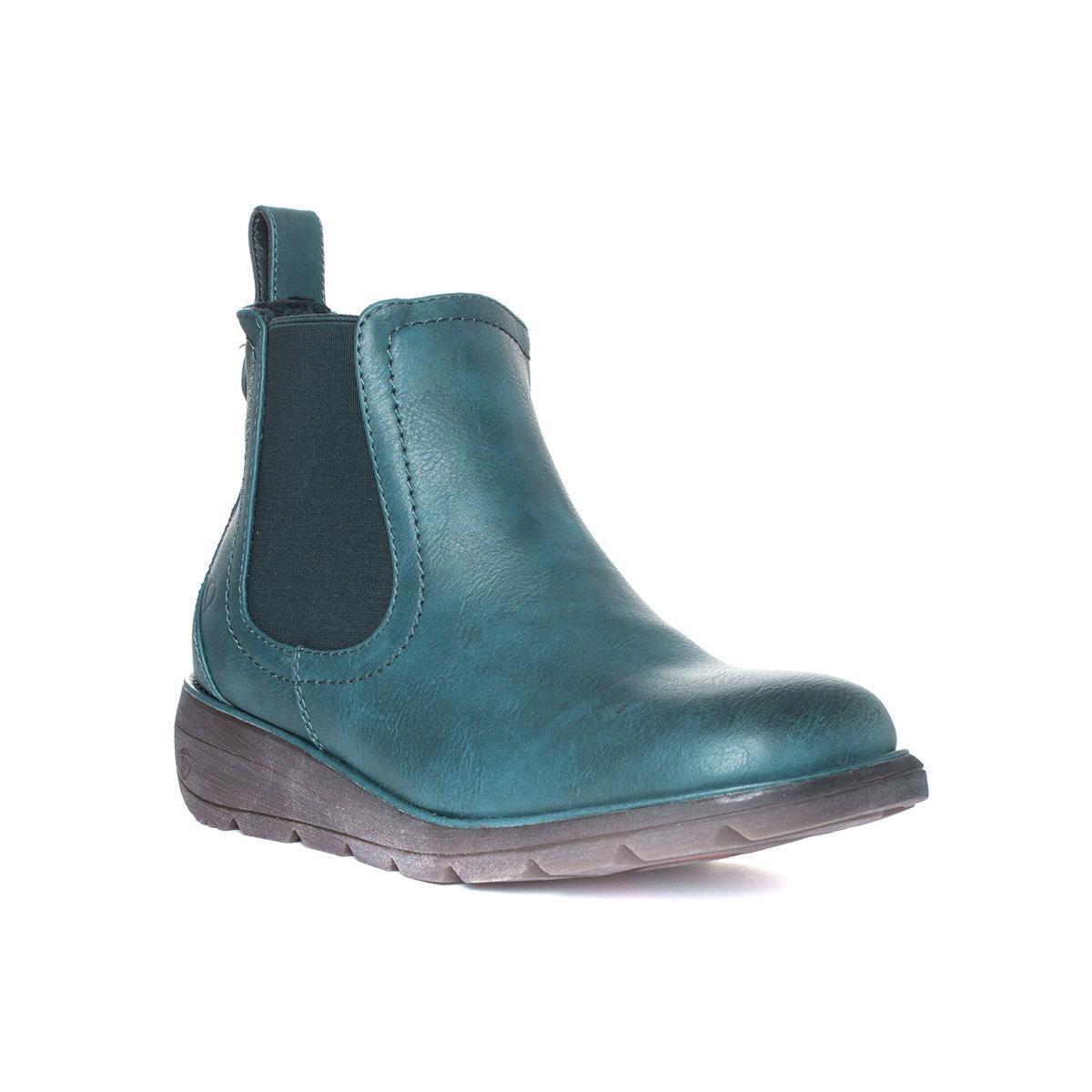 Heavenly Feet Womens bluee Wedge Boot - Sizes 3,4,5,6,7,8