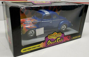 1940 Ford Coupe Street Rod Die Cast Ertl American Muscle Street Rods 1:18 New