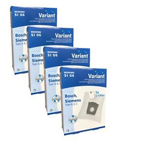 20 Staubsaugerbeutel Variant SI06 geeignet für Siemens Blue Motion