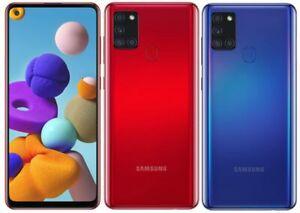 New Samsung Galaxy A21s Dual Sim 2020 4G LTE 32GB Smartphone Black Blue Red