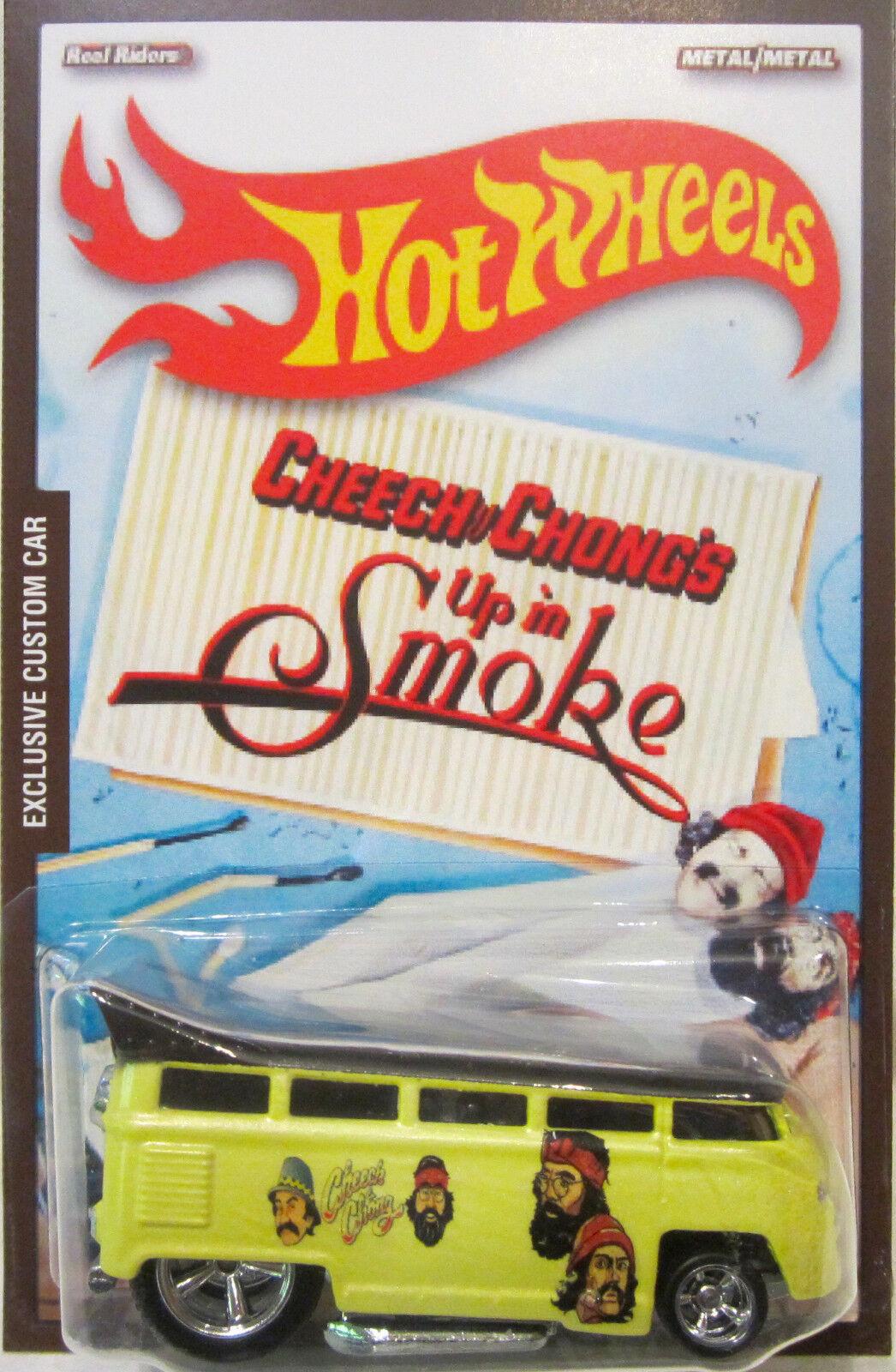 Hot Wheels Personalizado Vw Drag Bus Cheech & Chong Real Riders 1 5 hecho