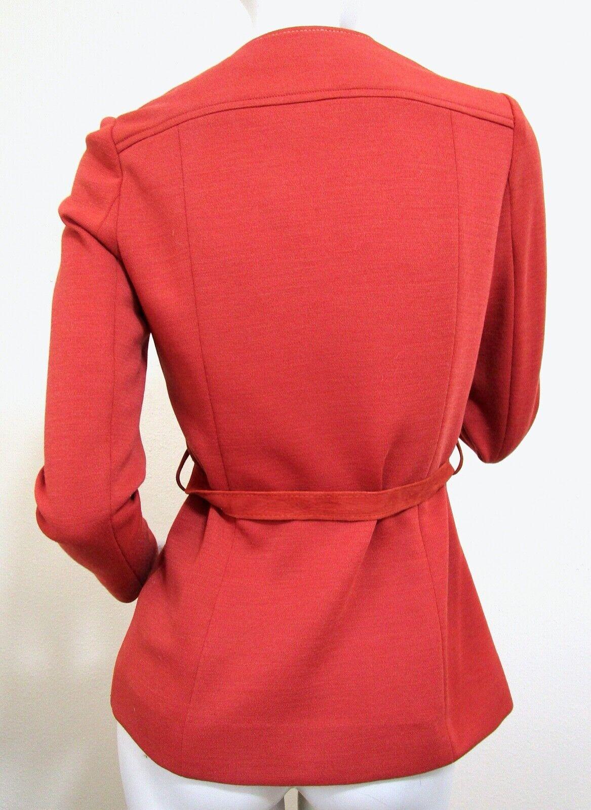 Vintage 70s Mod Orange PSI Leather Process Suede … - image 5