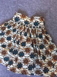 100% De Qualité Filles Coton Imprimé Africain Jupe, Ankara, Kitenge Casual Summer Wear-afficher Le Titre D'origine