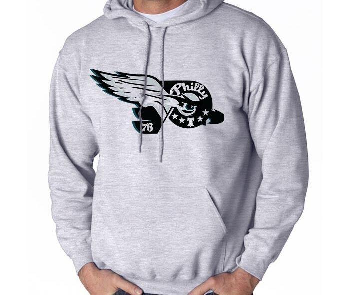 Philadelphia Philly Sport Fan Combined Logo Mashup Men's Sweatshirt Hoodie GIFT