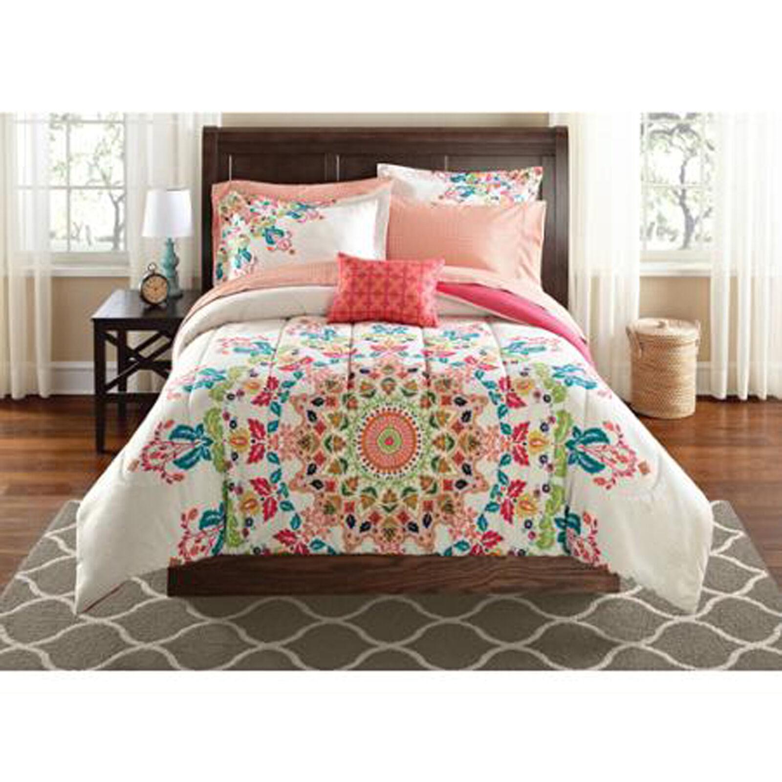 Full Bedding Comforter Set Sheets Bed In A Bag Polyester Complete