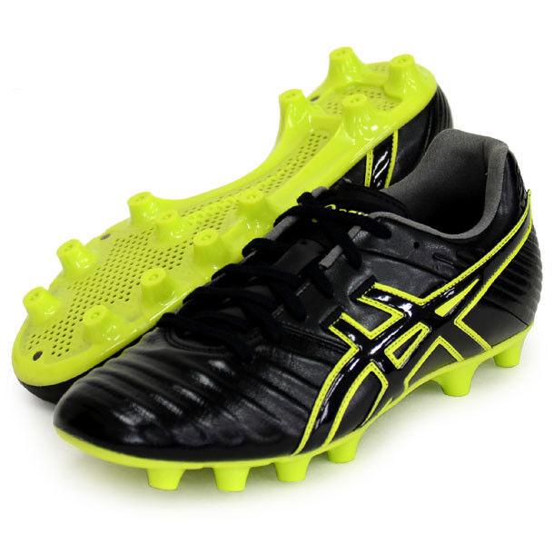 Asics Japón DS Light Zapatos de fútbol de 3 De Cuero De Canguro TSI750 Negro Yello