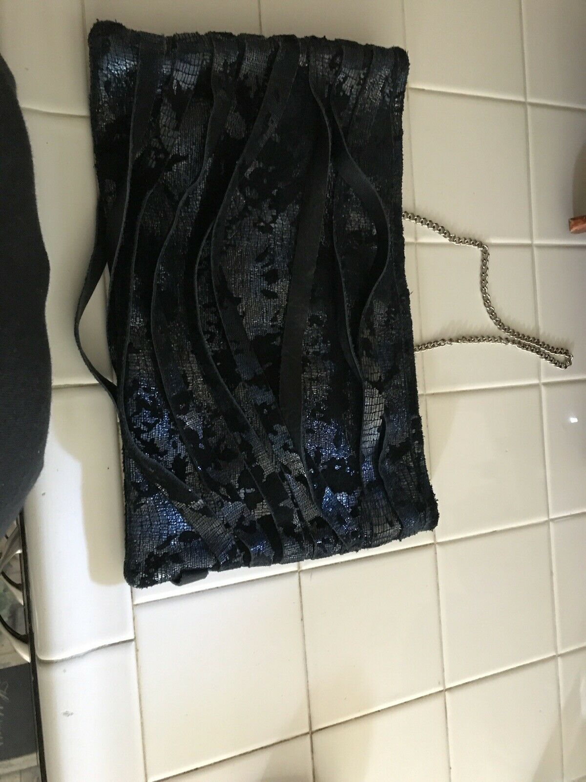 POSSE Black Leather  Hobo shoulder Bag New York - image 5