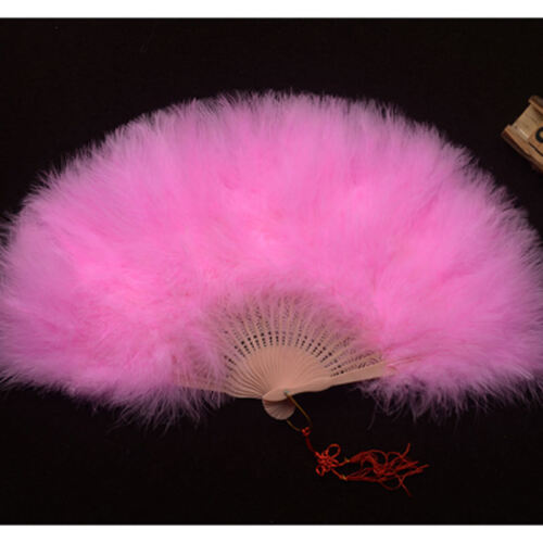 Chinese Style Classical Craft Feather Fan Fluffy Art Fan Stage Dance Props