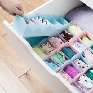 Plastic-Drawer-Organizer-Bra-Underwear-Socks-Storage-Basket-With-5-Grids