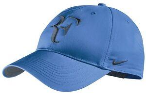 cliente primero entrega rápida atarse en Detalles de Nuevos Nike Rf Roger Federer Gorra Azul / Armory Navy Tenis Dri  Fit 371202-441- ver título original