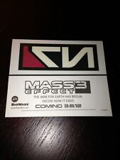 EA GAMES MASS EFFECT 3 Launch N7 Temporary Tattoo PAX E3 XBOX PS3 RARE