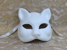 White Cat Woman Venetian Mask Mardi Gras Halloween Ball Prom Masquerade Mask NEW