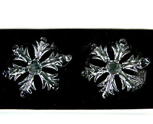 2 Snowflakes Made Of Glass To Hang Christmas Tree Ornament Christmas
