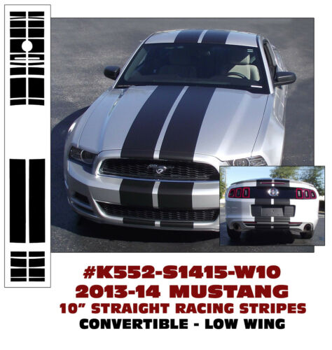 "LOW WING K552 2013-14 MUSTANG 10/"" LEMANS STRAIGHT STRIPES CONVERTIBLE"