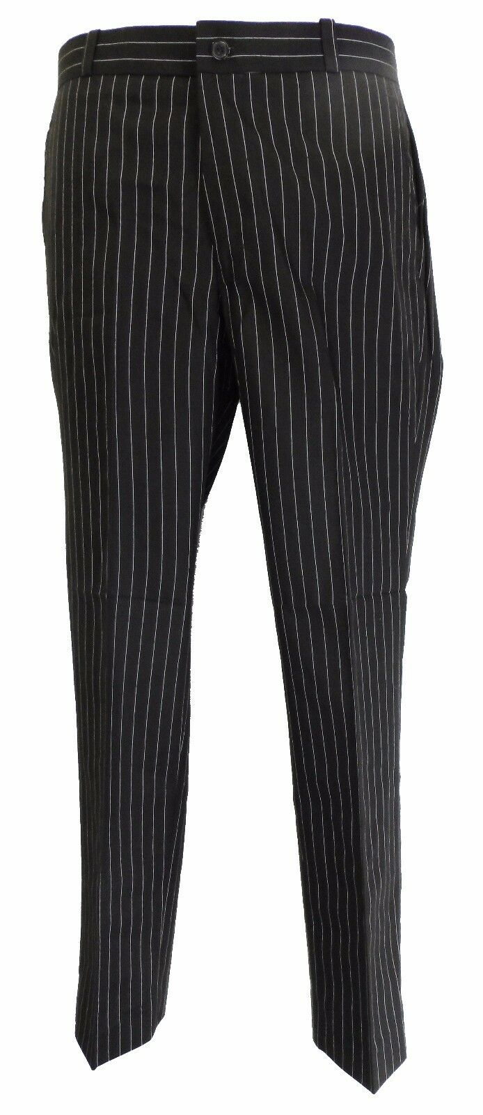 Gessato Nero 60s 70s Modello Retrò Vintage Sta Stampa Pantaloni