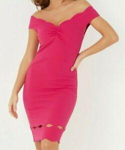 lipsy Red Bardot Body Size Small Bnwt