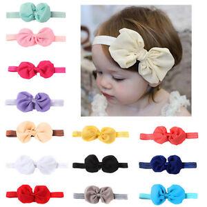 14x-bandeau-enfant-fille-enfant-bebe-Bow-fleur-cheveux-Band-accessoire-BBFR