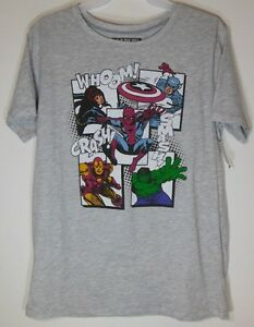 a5eb2eb7d6c Image is loading MARVEL-AVENGERS-NEW-Juniors-Large-T-shirt-Graphic-