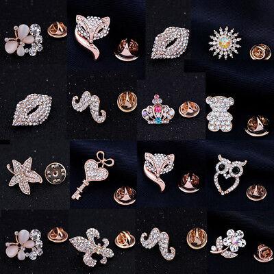 LC/_ Cristal Revers Épingle à Cravate Broches Collier Scatter Mode Mignon Bijoux