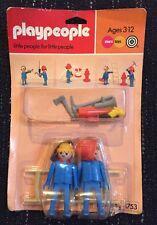 Playpeople Vintage Playmobil Marx Juguetes Bombero Blister con tarjeta 1753