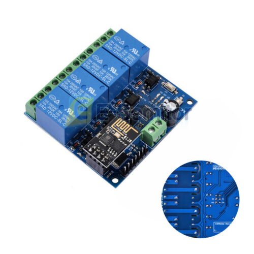 ESP8266 ESP-01 4 Channel 12V WiFi Relay Module For IOT Phone APP Controller