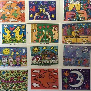 James-Rizzi-Postkarten-Kunstkarten-15-verschiedene-Motive-3D-Motive-neu