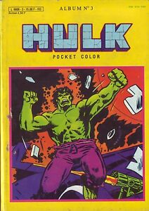 Hulk-Pocket-Color-Album-N-3-N-5-et-6-Aredit-Marvel-Comics-1983-BE