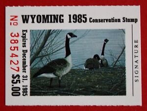 Image Is Loading CLEARANCE WY02 1985 Wyoming Conservation Stamp