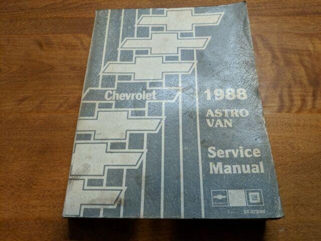 1988 Chevrolet Astro Van Service Manual
