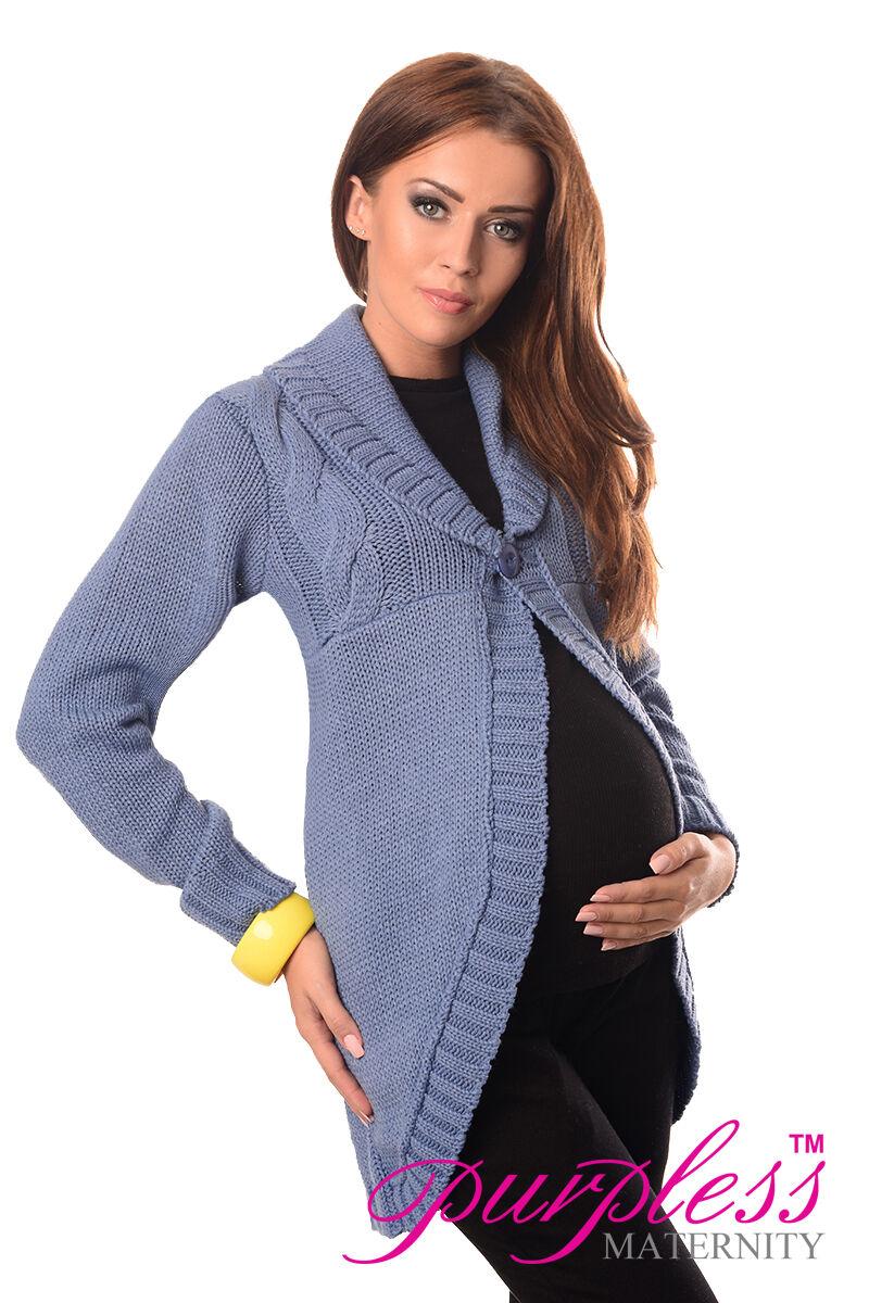 Violetss Maternity bouton fermeture pull cardigan Taille 8 14 10 12 14 8 16 18 9004 7d1e1d