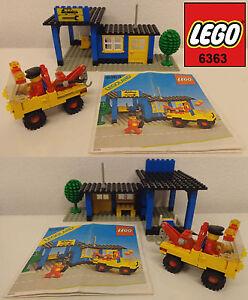 Play-Gioco-Game-Set-LEGO-6363-Town-Auto-Repair-Shop-1980-Officina-Riparazioni
