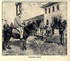 Österreichische Landser u. Einheimische in Skutari 1916