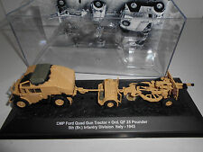 FORD QUAD GUN TRACTOR + QF 25 PDR ITALY 1943 #30 MILITARY DeAGOSTINI 1:72