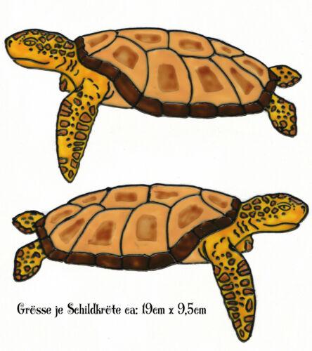 246 Window Color Fensterbild Fensterfolie Fenstersticker Zwei Schildkröten