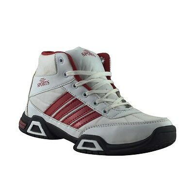 Elvace White_Red Presive Sports Men Shoes-8024