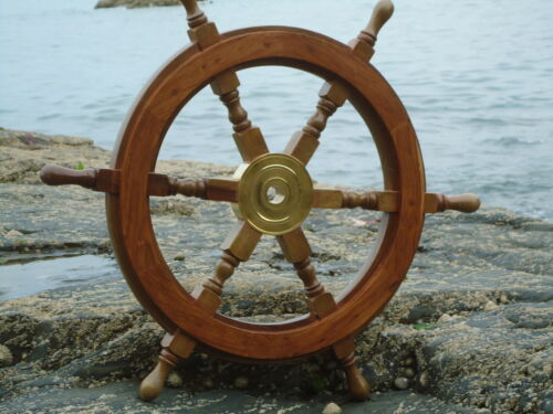 Nautical maritime  Nice Size Home Decor Gift Large Ships wheel 24 Inches across
