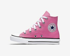 CONVERSE-Chuck-Taylor-All-Star-Hi-Top-Pink-Shoes-Youth-Kids-Girls-Sneakers-3J234