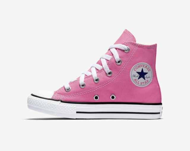 CONVERSE Chuck Taylor All Star Hi Top Pink Shoes Youth Kids Girls Sneakers  3J234 500fc306b88e