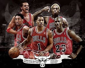 Image is loading Chicago-Bulls-All-Time-Dream-Team-8x10-Color-