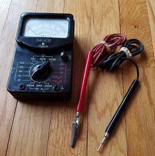 Vintage Argonne AR-620 Multimeter With Leads Working Volt Meter Ohm Japan DC AC