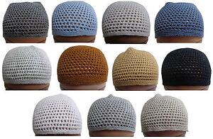 Wool Kufi koofi Kofi Hat Topi Egyptian Skull Cap Beanie Men Islamic ... ace3a9191fb