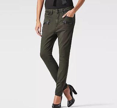 Star Femmes Uk Taille W30 Petit Pantalon Jeans Vin Kaki ami G L32 basse taille Zip dvwqf