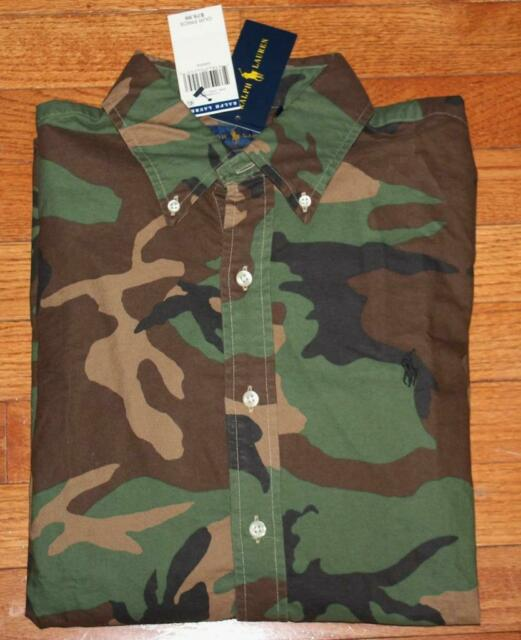 NEW Men Polo Ralph Lauren CAMOUFLAGE Oxford Shirt All Sizes Classic Fit
