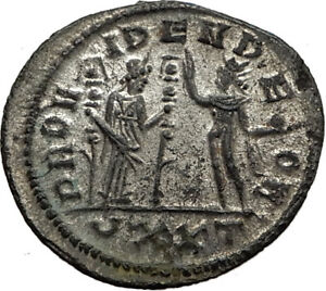 SEVERINA-Aurelian-wife-274AD-Rome-Authentic-Ancient-Roman-Coin-FIDES-SOL-i65436