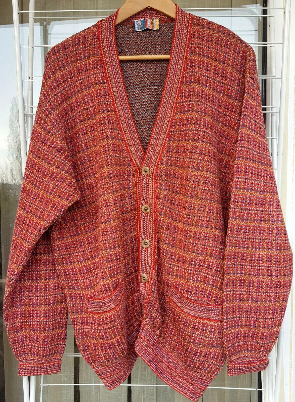 Example by Missoni Vintage Mens Cardigan Sweater Size L EUC