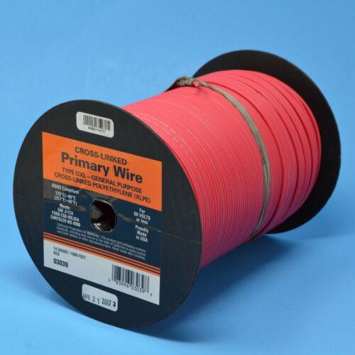 DEKA 14 AWG RED GXL Cross-Linked Polyethylene Wire 125°C 100 Feet Made in USA