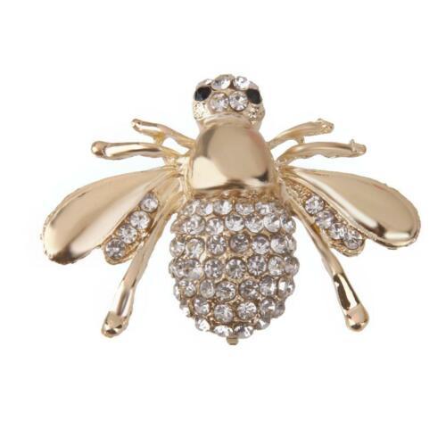 Women Fashion Crystal Rhinestone Flower Crown Animal Bouquet Brooch Pin Jewelry