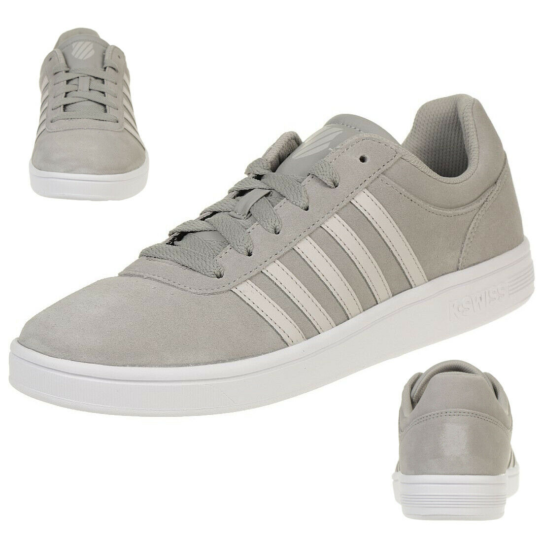 K-Swiss Court Cheswick Sde Chaussures paniers gris 05676-079-m